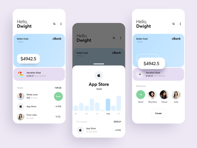 Redesigning of Transaction Part filter charge transaction history amount cost expenses card banking finance interface ios graphics app icons ux ui cuberto