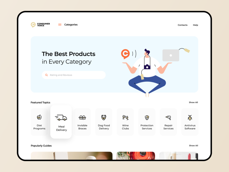 Product Review and Feedback Platform category goods product customer voice platform proof feedback review web interface illustration graphics app icons ux ui cuberto