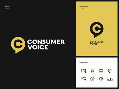 ConsumerVoice Branding iconography consumer voice identity logotype guideline strategy logo branding graphics icons ux ui cuberto