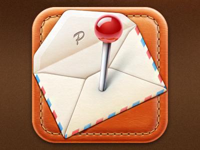 Pinvite iOS icon icon ios cuberto illustration app iphone pin mail