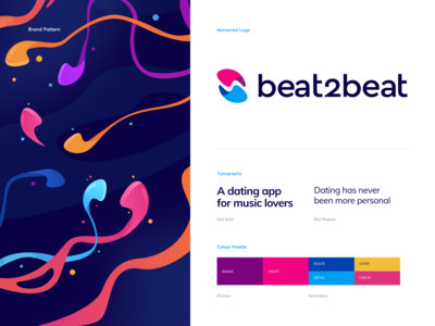 beat2beat Branding - a Dating App for Music Lovers