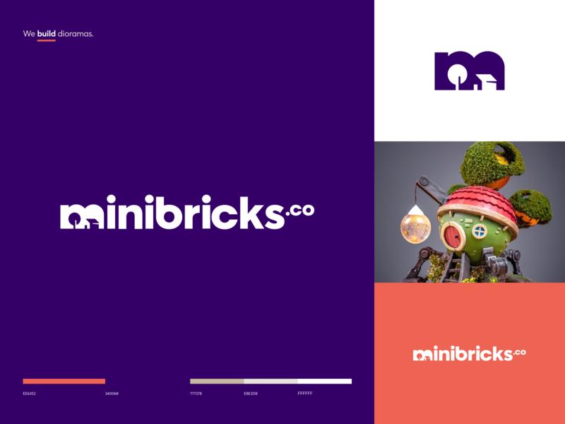 Minibricks.co Branding guideline craft workshop brandbook miniature layout model diorama typography branding logo graphics icons ux ui cuberto