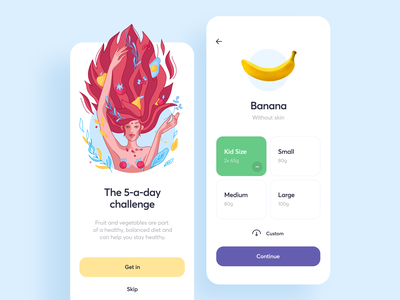 Food Diary App Design diet serving nutrition diary eat food mobile ios illustration app graphics icons ux ui cuberto
