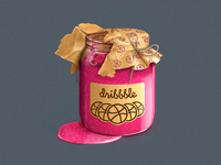 Dribbble Jam icon/illustration