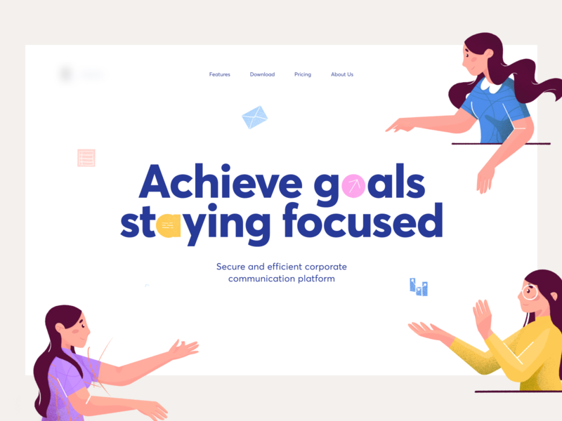 Dialog Start Page message placeholder page start character person chat community web illustration graphics icons ux ui cuberto