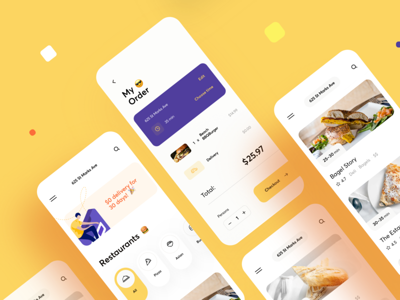 Crafted Fresh Food App Design resturant menu product eat chef meal order burger ecommerce delivery food mobile ios illustration app graphics icons ux ui cuberto