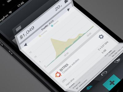 UX/UI menu concept with folding effect