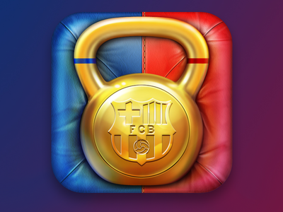 FCB Fitness iOS icon cuberto ui icon application weight iphone