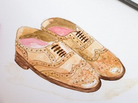 Watercolour practice: Grenson Brogues