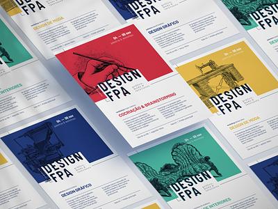 Semana do Design FPA Visual Identity typography bold logo workshop banner poster graphic design event branding event branding design