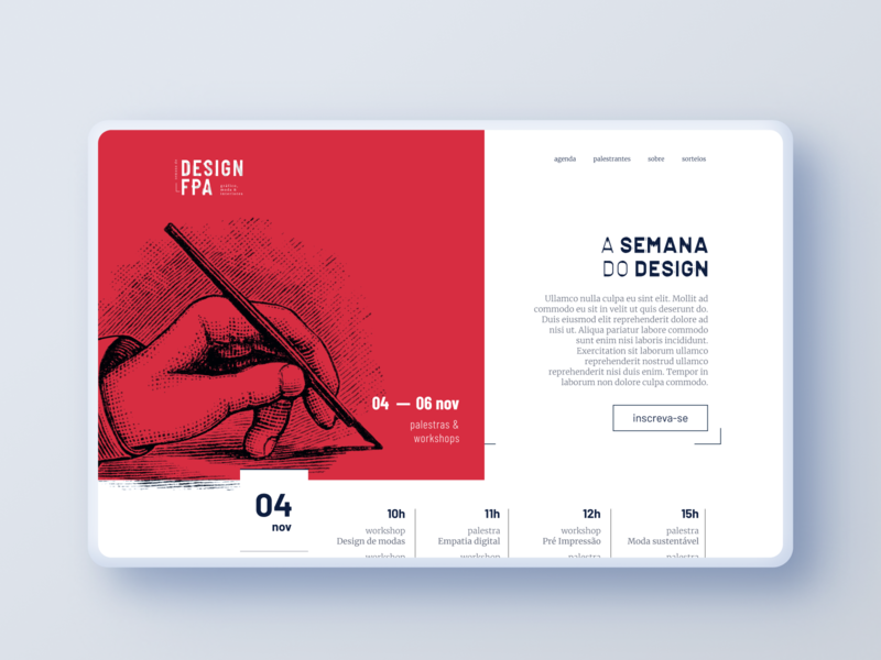 Semana do Design Visual Identity landing page social media design event event branding social media flat bold ui branding logo design