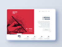 Semana do Design Visual Identity landing page social media design event event branding social media flat bold ui branding logo design