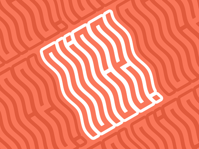 NICE! pattern wave lettering typography design vector lett graphic design