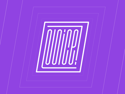 NOICE! badge stroke lettering typography vector minimal design