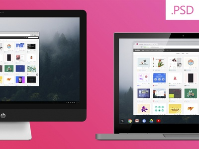 Free Mockups - HP Envy / Chromebook Pixel
