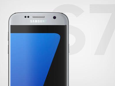 Galaxy S7 Mockup Preview galaxy psd realistic smartphone mockup s7 samsung