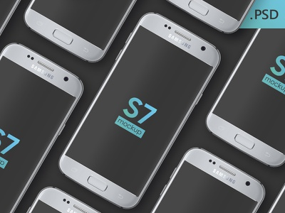 Free Galaxy S7 Mockup template free mockup psd freebie graphic design s7 galaxy samsung