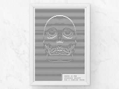 Hexagram Poster illustration white black concept deftones music skull design graphic poster