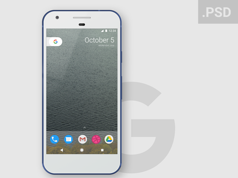 Google Pixel Mockup free smartphone freebie design pixel google mockup