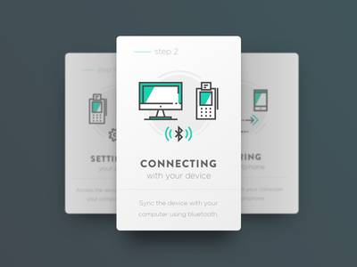 Onboarding Cards steps design icon ui card