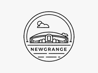 Badge Newgrange stamp illustration icon badge