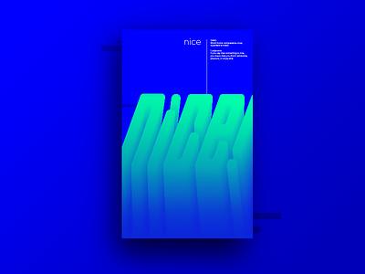 NICE poster nice design rebound