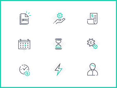 Icons for Infographic line design pagseguro icon