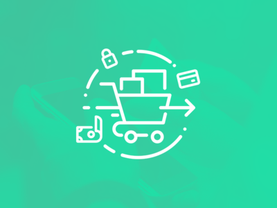 Checkout illustration stroke payment icon illustration