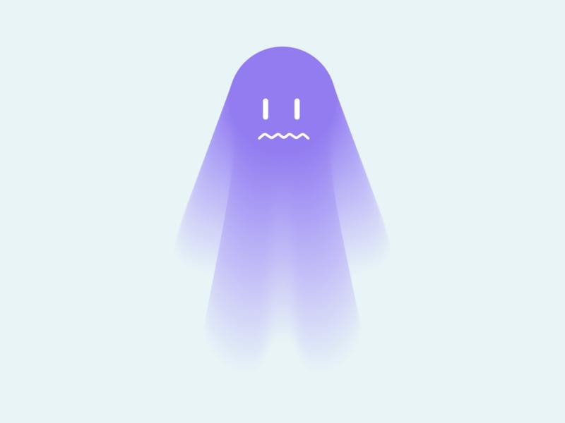 Ghost weeklywarmup halloween illustrator ghost minimal color vector illustration design