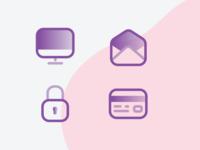 Icons study 3 modern web vector sharp round minimal iconography icon grid flat design bold