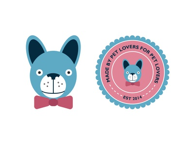 Custom Puppy Logo logo illustration dog pet custom design graphic brand logo icon logo symbol art direction