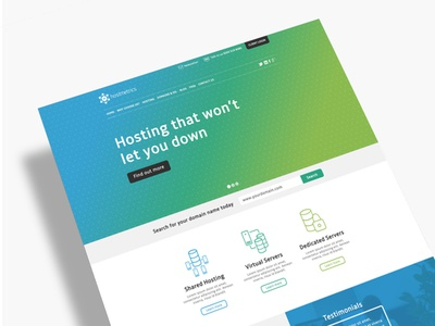 Hostmetrics Homepage design illustration ui web interface gradient hosting server cloud navigation icons web design