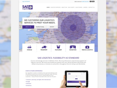 Logistics Company Website Design Homepage design ui web interface map navigation icons logistics web design art direction web app