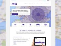 Logistics Company Website Design Homepage
