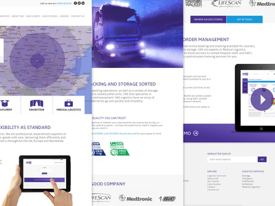 Logistics Company Website Design design ui web interface map navigation icons logistics responsive web design art direction web app