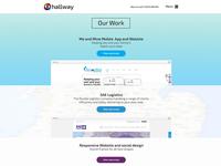 "Hallway - ""Our Work"" Page Design"