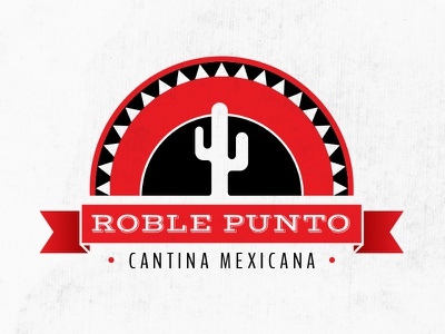 Roble Punto Logo logo illustration mexican restaurant food sombrero design graphic brand logo design logo symbol art direction