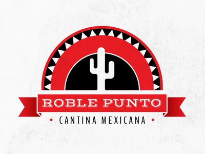 Roble Punto Logo logo illustration mexican restaurant food sombrero design graphic brand logo design logo symbol art direction