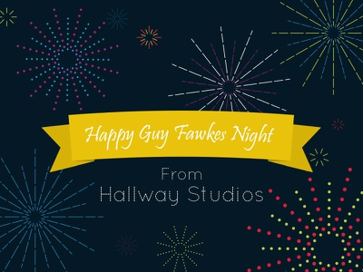 Happy Guy Fawkes Night fireworks fun colour night design illustration explosion guy fawkes bonfire night