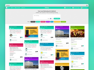 Joleany Homepage design ui web colourful local discover deals web design web app art direction