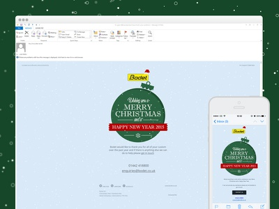 Bodet Xmas Email email campaign responsive bauble xmas christmas snow design