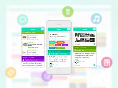 Joleany Mobile responsive design ui webcolourful local discover deals web design web app art direction