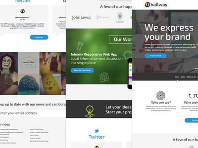 Hallway Home Page design illustration ui web work agency re-brand web design art direction home page
