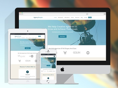 Agency People art direction consultancy web design growth grow mobile balloon ui design responsive