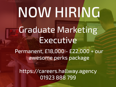 Hiring - Graduate Marketing Executive  craft beer digital marketing watford jobs