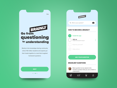 Brainly redesign concept product design product question learning app concept redesign mobile design mobile app mobile ui brainly