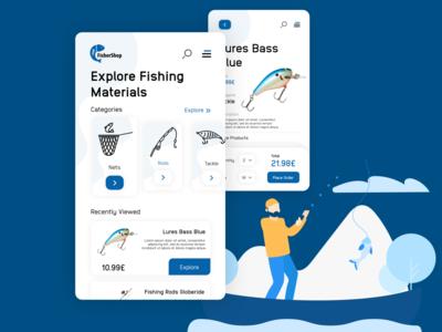 Fishing store app store app app design mobile design mobile app mobile ui sea app fishing app store design store ux design uiux ui design adobe xd