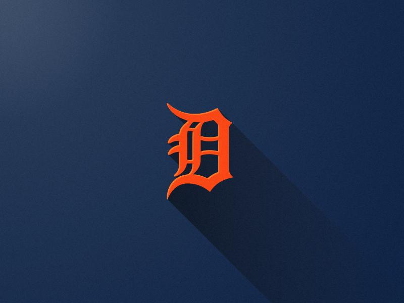 Tigers Long Shadow detroit tigers baseball logo long shadow grain noise vector
