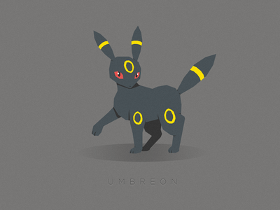 Umbreon (Coolest Eevee Evolution) umbreon pokemon illustration vector