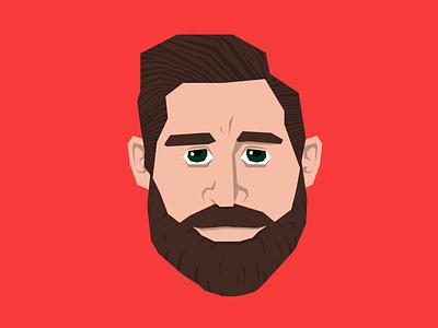 O Captain, My Captain red wings hockey zetterberg illustration vector beard